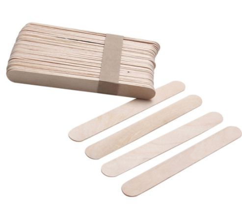 spatule epilation en bois pour cire chaude 10 pi ces jetables. Black Bedroom Furniture Sets. Home Design Ideas