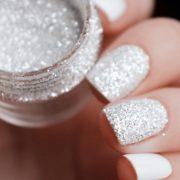 Poudre chrome ongle glitter effet brillant et paillette