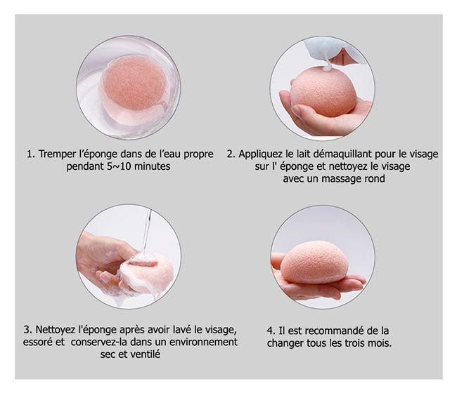 Comment utiliser l' éponge konjac