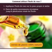 comment utiliser huile de rose