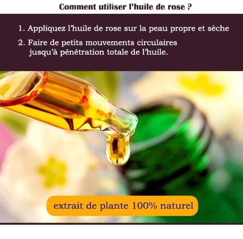 Utilisation de l' huile de rose musquée