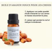 huile amande douce anti cerne