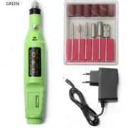 ponceuse manucure électrique vert