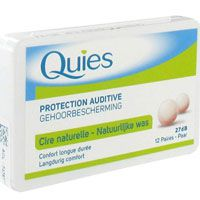 Quies Protection Auditive à la Cire Naturelle 12 Paires