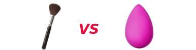 Comparatif : Pinceau VS éponge
