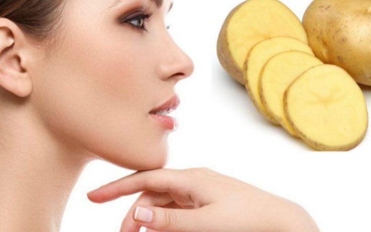 pomme de terre sur le visage